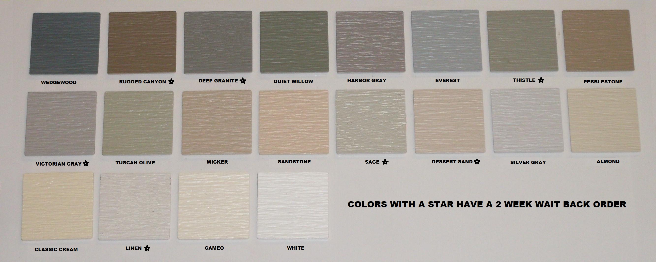 Mastic Siding Color Samples   Zef Jam