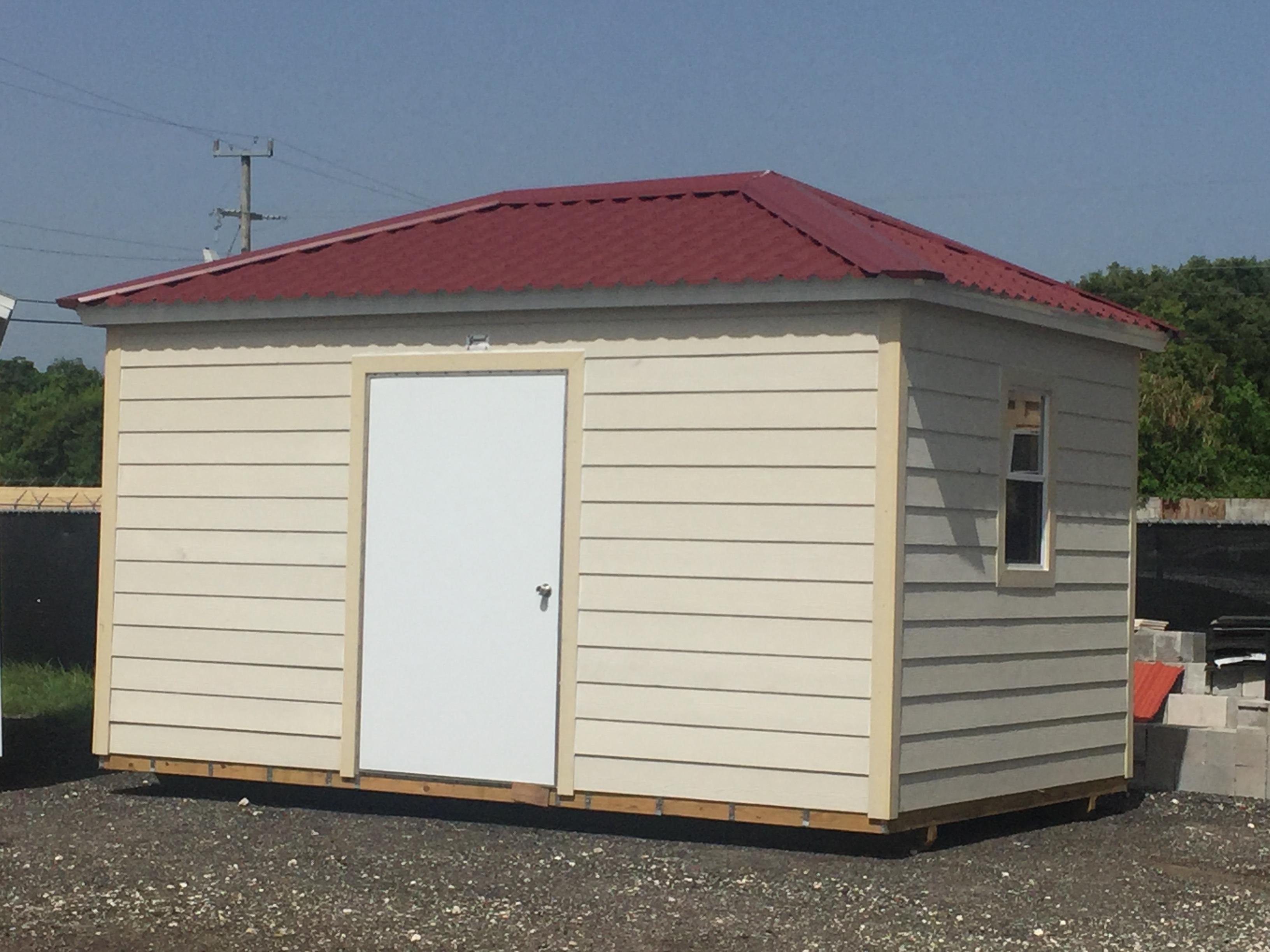 10x16 , hip roof , permatile , 8 walls