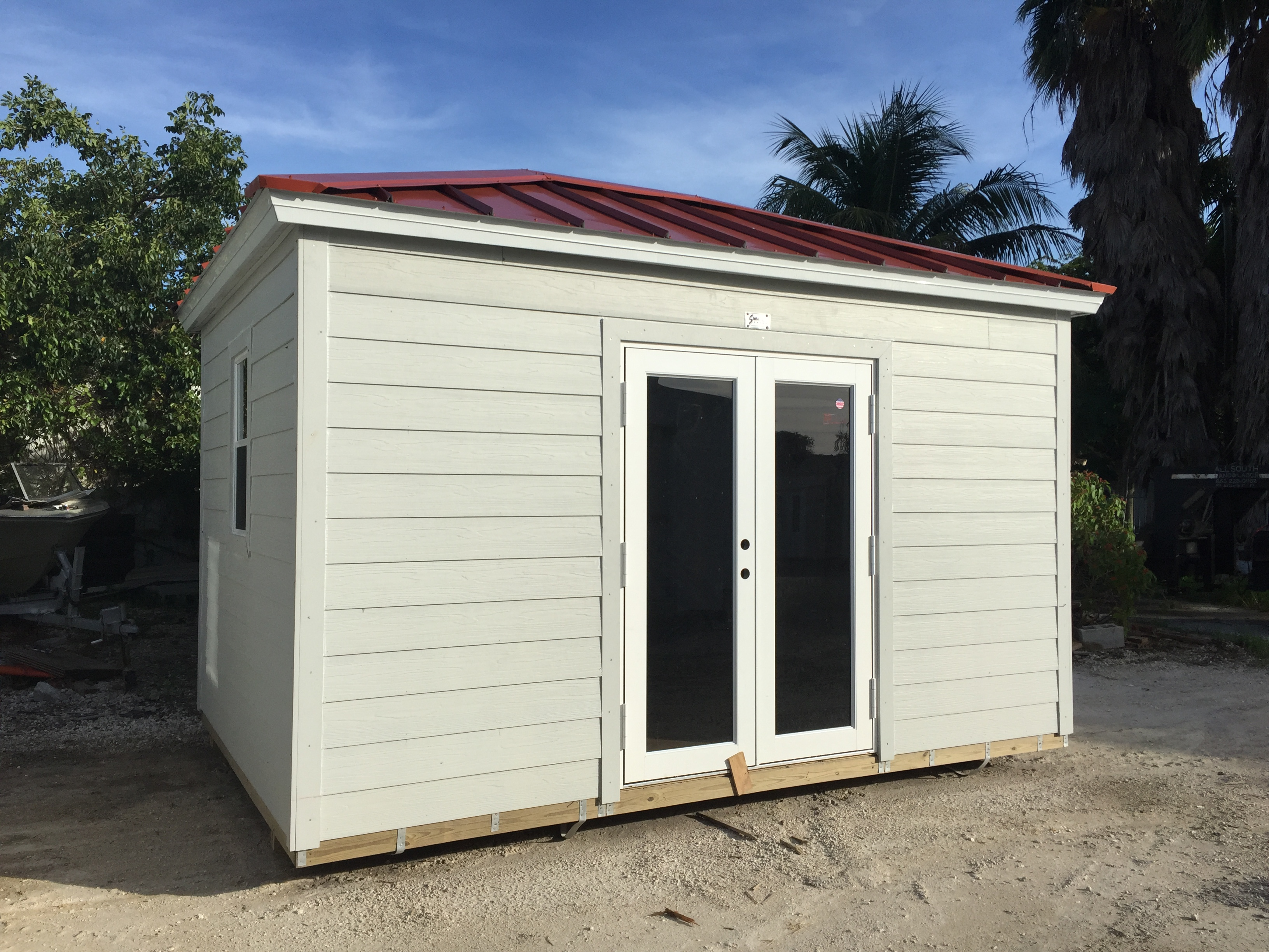 10x14 , home door , hip roof , permatile , office