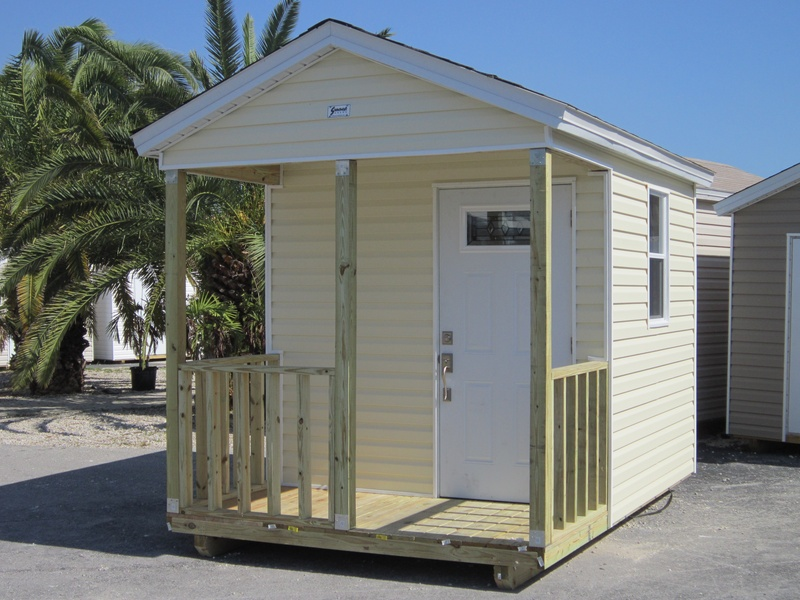8x8 with 4' porch and home door