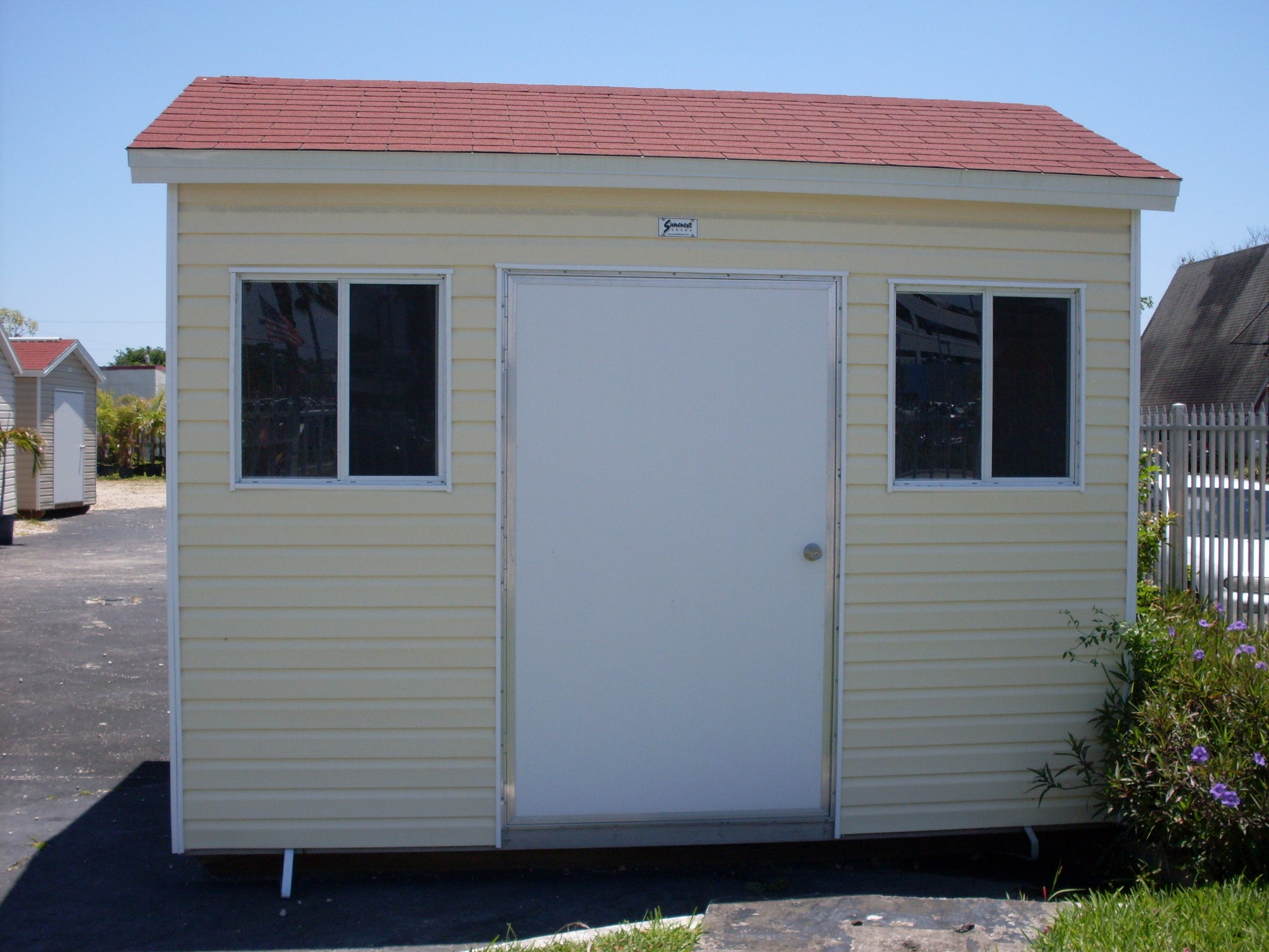 8x12 with eaves and 8 foot wall
