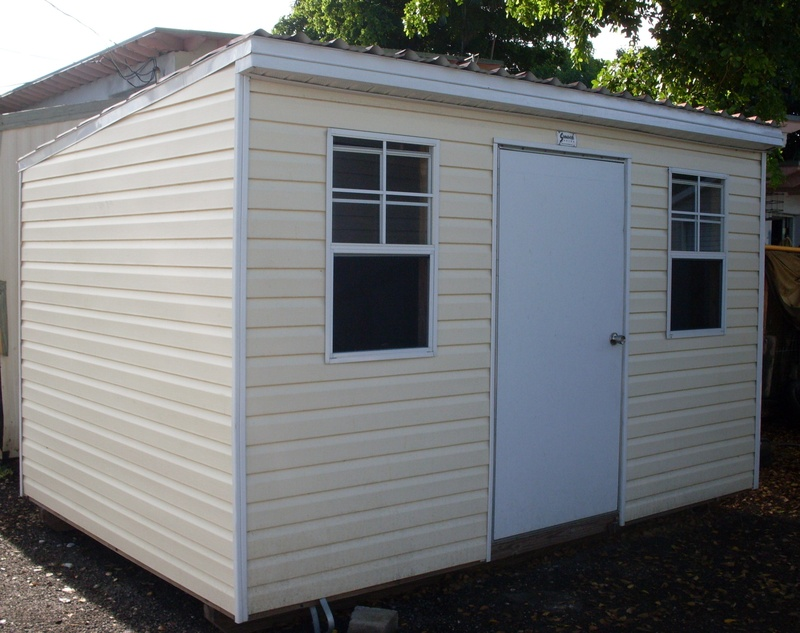 8x12 low profile/single gable