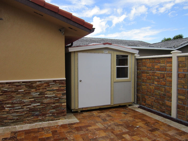 8x10 low profile and Hardie Panel ( board )