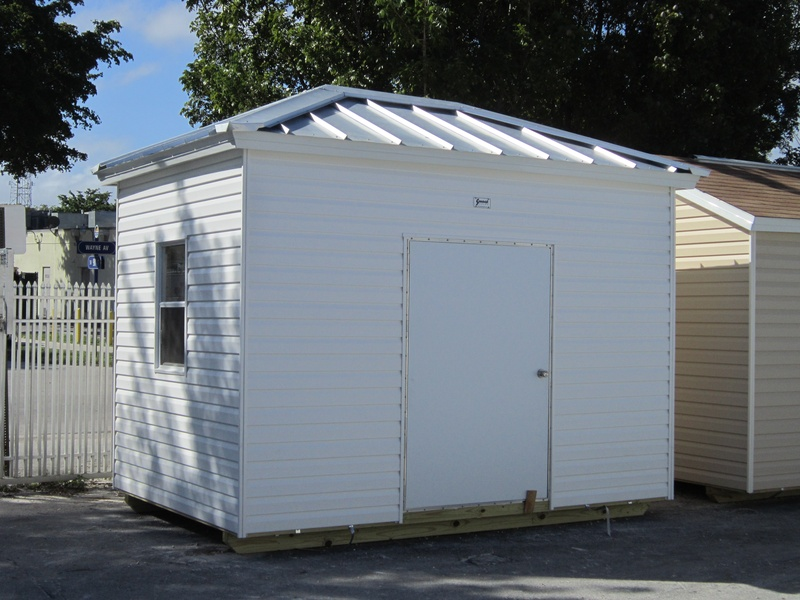 8x12 / 8 wall / Hip and Galvalume roof