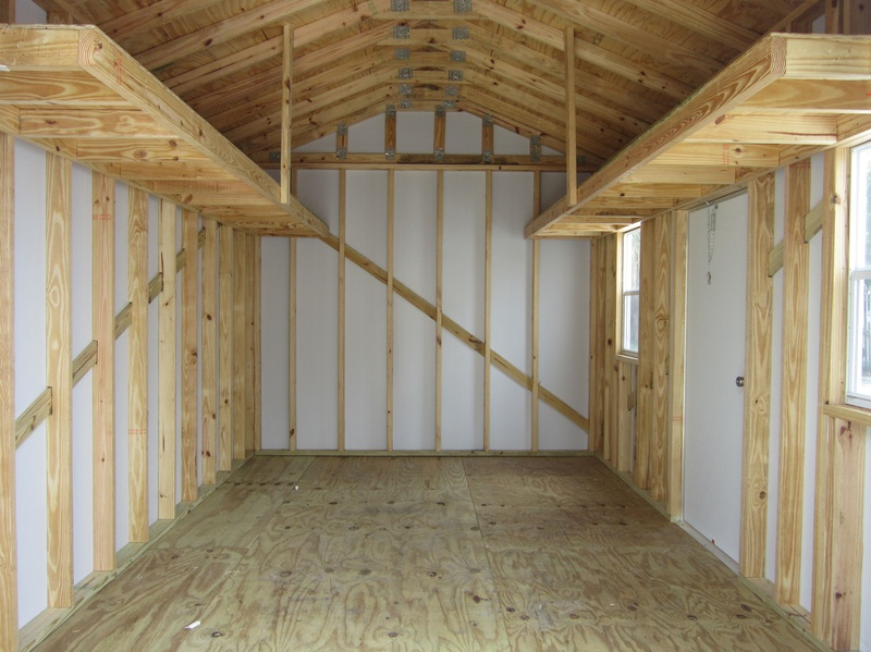 2 foot loft / 16 on center framing